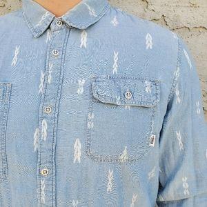 Vans Shirts - Mens Vans Long Sleeve Button Down Shirt
